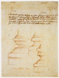 Michelangelo Basi di pilastro per la Sagrestia Nuova