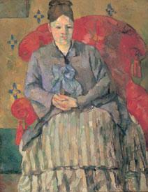 Paul Cézanne - Madame Cézanne sulla poltrona rossa, 1877 ca., olio su tela