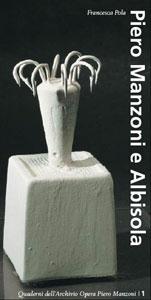 Locandina del volume Piero Manzoni e Albisola di Francesca pola