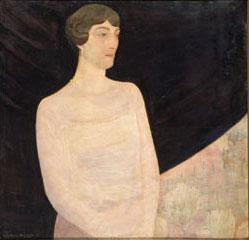 Guido Cadorin - Signora e giardino primaverile, 1919