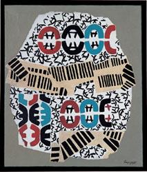 Giuseppe Capogrossi - Superficie 303, 1959 - Olio su tela, cm 100 x 85 - Collezione privata