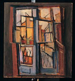 Achille Funi - La finestra, 1915-18 - Olio su tavola, 64,5 x 58,5 - Collezione privata