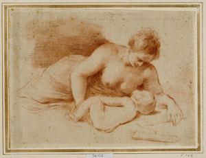 Francesco Barbieri detto Guercino, Donna che allatta un bambino, Venezia, Fondazione Giorgio Cini