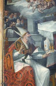 Simone De Magistris, Messa di San Martino,(1537) - particolare - Chiesa di San Martino, Caldarola