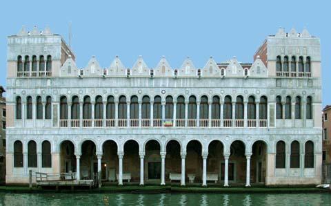 Facciata sul Canal Grande del Fontego dei Turchi, sede del Museo di Storia Naturale