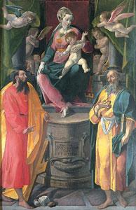 Simone De Magistris, Madonna in trono col Bambino e Santi, Museo Diocesano, Osimo (AN)