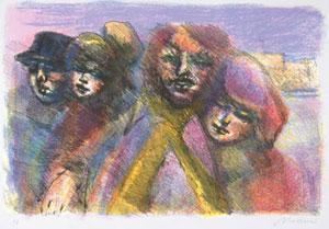 Le coppie, litografia (1977)
