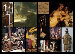 Logo mostra Tesori alla luce. Opere dai musei al San Michele
