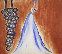 Enzo Cucchi - Peso divino, 1995 - affresco/fresco, cm 200×232 - Collezione privata/Private collection