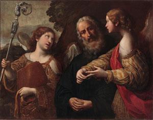 Tiarini Alessandro, San Benedetto e due Angeli (Roma, Convento di Sant'Ambrogio alla Massima, Proprietà Fondo Edifici di Culto)