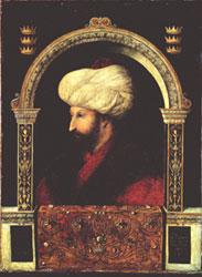 Gentile Bellini [attr.] (1429-1507) - Ritratto del Sultano Maometto II, Istanbul, 25 novembre 1480
