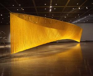 Akio Hamatani (Osaka 1947) Orbit 6 rayon giallo 1400×230x300 cm
