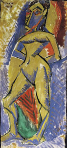 Pablo Picasso (1881 - 1973), Femme nue 1907 (Milano, Civico Museo d'Arte Contemporanea)