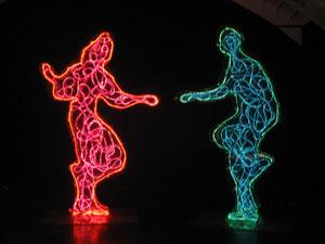 Balletto plastico, Perspex + neon,300 x 450 x 25 cm, 2006