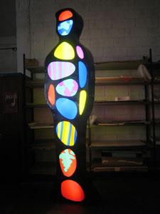 Luminosamente, Lamiera + perspex + neon, 285×71 x 25 cm, 2006