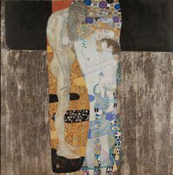 Gustav Klimt, Le tre età della donna, 1905, Roma, Galleria nazionale d'arte moderna, Italia.