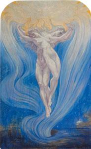 Jean Delville, L'amore della anime, 1900, Bruxelles, Musée d'Ixelles, Belgio.