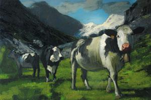 Massimiliano Alioto, Agata, 2007, olio su tela, 200×300 cm