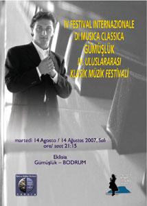 Locandina Festival Internazionale di Musica Classica di Gümüşlük