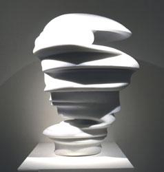 In Memory of a Second 2002 Stone (white) 75×60x50 Sala del Collezionista