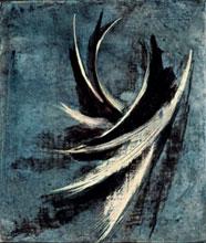 Studio per una scultura , 1957 - graffito e tecnica mista su tavola, cm 30,5×25,5×1,5, Archivio Somaini, Milano