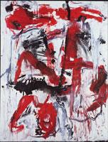 Emilio Vedova, Non dove, 1985 – 1, Tecnica mista su tela, 300×230 cm, Venezia, Fondazione Emilio e Annabianca Vedova