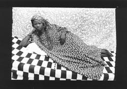 Seydou Keita Untitled, 1956/57, 120 x 180 cm, Gelatin silver print, copyright Seydou Keïta, Courtesy-C.A.A.C. - The Pigozzi Collection, Ginevra, Photo: Seydou Keïta