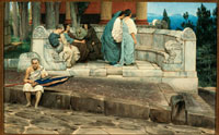 Laurence Alma-Tadema, Un'esedra (An Exedra), 1871, acquerello su carta,  cm 40 x 63,8, Città del Messico, Collezione Pérez Simόn