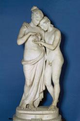 Canova, Amore e Psiche stanti, Marmo,Parigi, Louvre