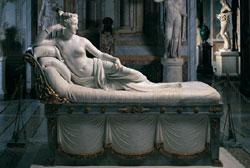 Canova, Paolina Bonaparte Borghese, Marmo, Roma, Galleria Borghese