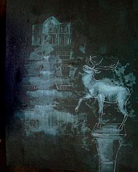 Avish Khebrehzadeh/MACRO - Stag and Water Falls, 2007, 50,8 x 40,6 cm (20×16 inches), pittura a olio su gesso e legno