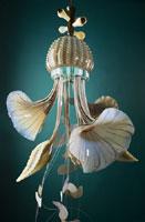 Maria Grazia Rosin - Serie gelatina lux – melma, 2006; h 140 cm.; diam. 50 cm; vetro soffiato a mano volante; Maestro Pino Signoretto; Courtesy Galleria Caterina Tognon