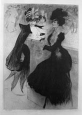 Edgard Chahine (1874 – 1947), Bar Americano, puntasecca, mm 401×281, Acquisto Biennale 1901, Ca' Pesaro – Galleria Internazionale d'Arte Moderna