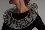 Neckpiece, Drape series, 2007 - Silver and acrylic / argento e acrilico