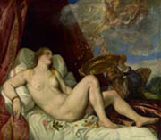Danae, (cm. 129 x 180), Vienna, Kunsthistorisches Museum, Gemäldegalerie