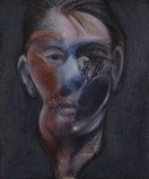 Francis Bacon (1909-1992), Autoportrait (1976), olio e pastello su tela; 4×29,5 cm, Marsiglia, Musée Cantini