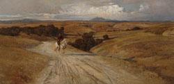 Enrico Coleman, La desolata campagna di Roma, 1901,Olio su tela, 71 x 144, Roma, Galleria Nazionale d'Arte Moderna
