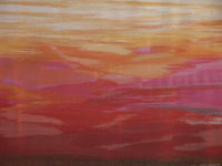 Marisa Bronzini (1920 - 2007), Filo 113, 2002, cotone, seta, cm.70,5×153