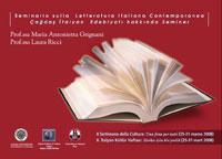 Seminario sulla Letteratura Italiana Contemporanea