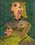 Enrico Baj – Hommage à Picasso, serigrafia e tecnica mista 77x60
