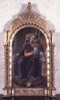 Filippo Lippi (Firenze 1406 circa - Spoleto 1469), Madonna con il Bambino, datato 1437, Tempera su tavola, 114 x 65 cm, Roma, Galleria Nazionale d'Arte Antica, Palazzo Barberini