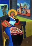 Fortunato Depero, Ciociara, cm 100 x 70, olio, 1919 by SIAE 2008