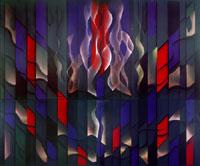 Abdurrahman Öztoprak, Missa solemnis respect for L.V. Beethoven, 2005, cm. 300 X 360, Tecnica mista su tela / Mixed media on canvas