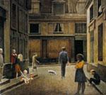 Passage du Commerce-Saint-André, 1952-1954, Olio su tela,  cm  294 x 330, Collezione privata
