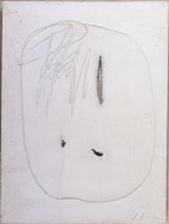 L. Fontana - Concetto spaziale - Olio  taglio  buchi e graffiti su tela  bianco 80X60-61 O 89 - bis - tab134 – RGB