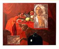 Guido Biasi, Palimpsest, 1981, olio su tela, cm.110x130