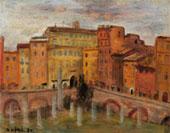 Mario Mafai, Case al Foro Traiano, 1930 - olio su tavola, cm 40,1 x 50,2 - Roma, Galleria Comunale d'Arte Moderna e Contemporanea, AM 827