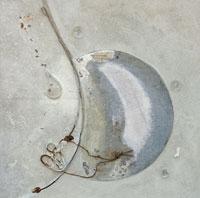 Frammenti di luna, 2007 - Polimaterico, 90x90 cm
