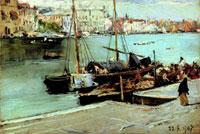 Lorenzo Delleani, Venezia: Canal Grande, 22.5.1907, Olio su tavola, Cm 30,6x44,5, Biella, collezione privata
