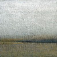 San Servolo, 2002, cm. 100 x 100, olio su juta / oil on burlap, Collezione privata / Private collection